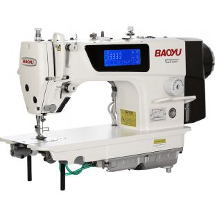 Baoyu GT280 одноигольная машина с нижним транспортом  автоматикой и встроенным сенсорным дисплеем