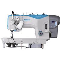 Jack JK-58750D4-405 Двухигольная промышленная швейная машина с автоматикой, увеличенными челноками и отключением игл