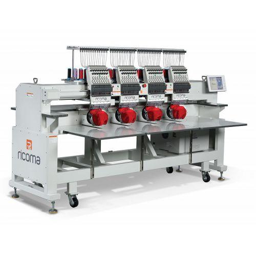 Ricoma FHT - 1204 12-игольная 4-головочная вышивальная машина с плоской платформой