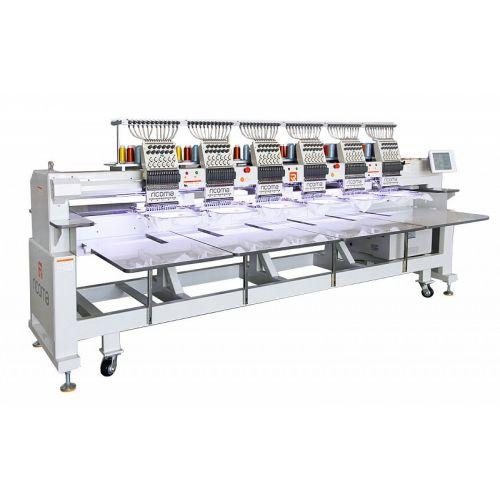 Ricoma FHT - 1206 12-игольная 6-головочная вышивальная машина с плоской платформой