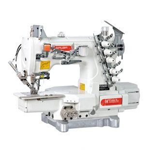 Siruba С007K-W222-356/CQ плоскошовная швейная машина (распошивалка) с цилиндрической платформой и устройством для окантовки