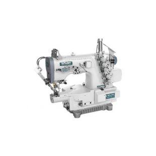 Siruba C007K-W812-356/CRL/RL Плоскошовная швейная машина (распошивалка) с левосторонней подрезкой края материала, пулером для продвижения и пневмообрезкой нитей