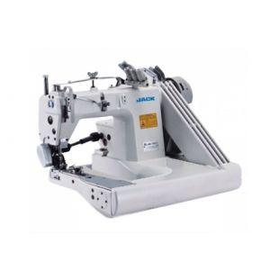 Jack JK-9280D трехигольная швейная машина цепного стежка с П-образной платформой и сервоприводом