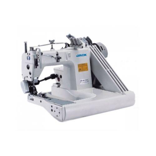 Jack JK-T9280D-73-2PL трехигольная швейная машина цепного стежка с П-образной платформой и сервоприводом