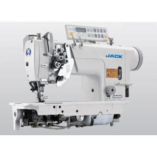 Jack JK-58720D4-403 Двухигольная промышленная швейная машина с автоматикой, увеличенными челноками, без отключения игл