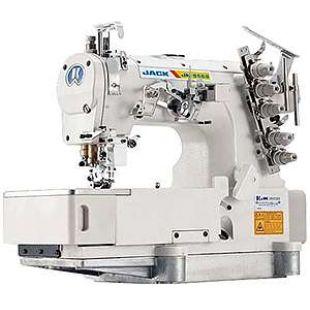 Jack JK-8569ADI-02BB 3-игольная 5-ти ниточная распошивальная машина с плоской платформой беечной модификации