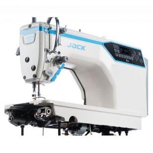 Jack JK-A4E-7HQ одноигольная прямострочная 'говорящяя' швейная машины с автоматикой для тяжелых тканей