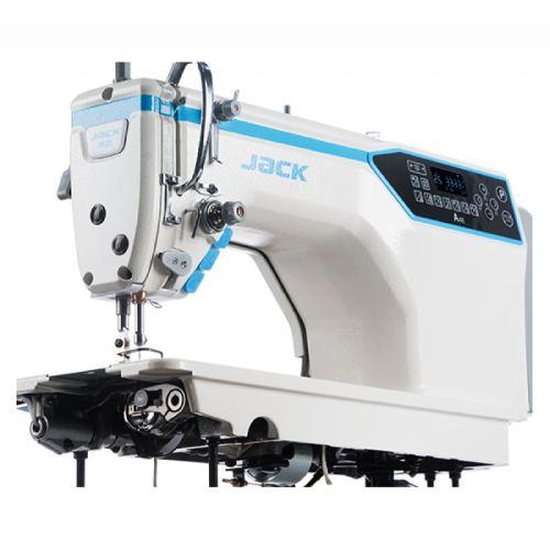 Jack JK-A4E-7HLQ одноигольная прямострочная 'говорящяя' швейная машины с автоматикой и увеличенным челноком