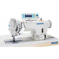 MAQI 8450N-D4  Двухигольная промышленная швейная машина с отключением игл со стандартными  челноками полный автомат