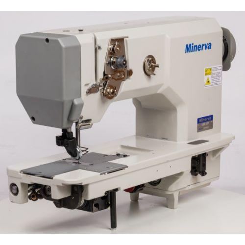 Minerva MR 551Одноигольная машина с унисонным продвижением материала (ролик-ролик) для тяжелых материалов