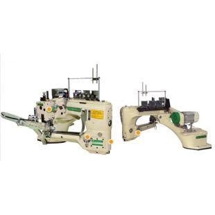 Ming Jang MJ101TX-460- 01S/DSV/AT/AW/SCD/TK Плоскошовная шестиниточная машина (флэт-лок) с цилиндрической платформой и автоматикой