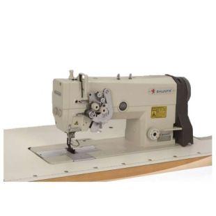 Shunfa SF875-H Двухигольная промышленная швейная машина с увеличенными челноками и отключением игл
