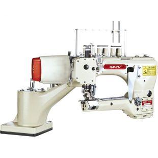 Baoyu SP-740-02-G2 четырехигольная промышленная швейная машина флэтлок с задним пуллером и встроенным сервомотором