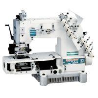 Siruba VC008-04085P/VCE/RL, VC008-04095P/VCE/RL, VC008-04127P/VCE/RL Четырехигольная машина цепного стежка с цилиндрической платформой и роликами растяжки резинки