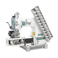 Siruba VC008-12064P/VSC Двенадцатиигольная машина цепного стежка с роликами для подачи резинок