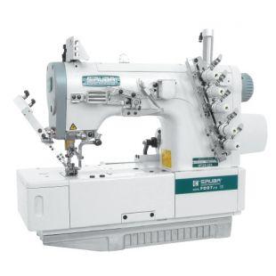 Siruba F007J-W122-240/FHA, F007J-W122-248/FHA плоскошовная четырехниточная швейная машина (распошивалка) с подгибкой края изделия