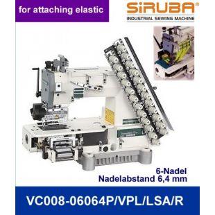 Siruba VС008-06064P/VPL/LSA/R Шестиигольная лампасная машина цепного стежка с цилиндрической платформой